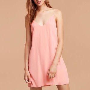ARITZIA Tna Mini Tank Slip Dress Salmon Pink M